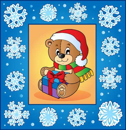 neckscarf: Christmas topic greeting card 1