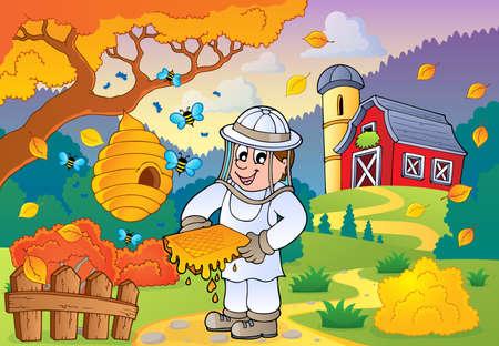 Autumn farm tema Vettoriali