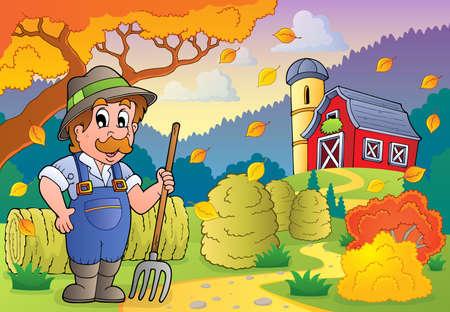 Autumn farm theme 3 - eps10 vector illustration