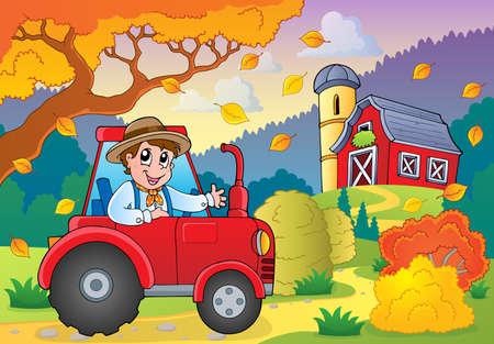 Autumn farm theme Vector