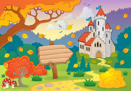 fairytale castle: Autumn theme with castle
