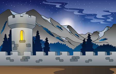 fortification: Background castle in mountain