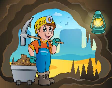 gold mining: Mine theme image  Illustration