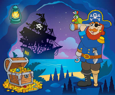 hideout: Pirate cove theme image 3 - eps10 vector illustration