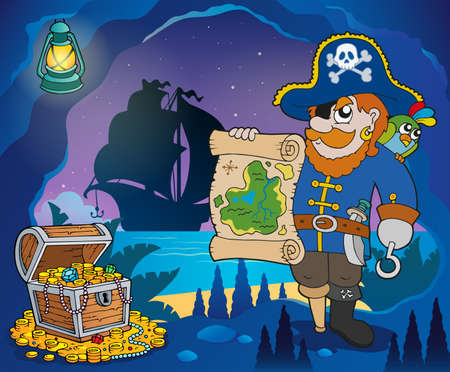 hideout: Pirate cove theme image 4 - eps10 vector illustration