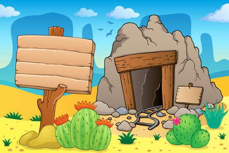 kopalni: Pustynia z starej kopalni tematu