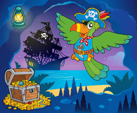 parrot flying: Pirate cove topic image