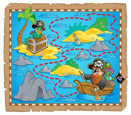 carte tr�sor: Carte au tr�sor image th�me