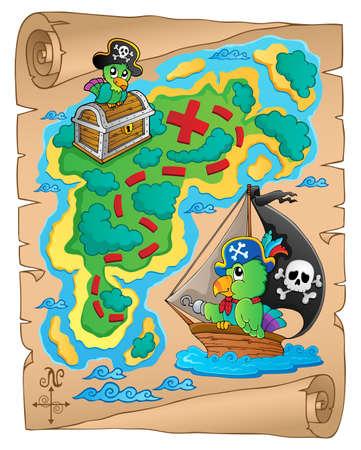 hideout: Treasure map theme image