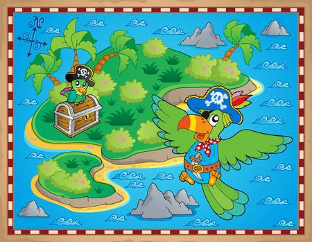 isla del tesoro: Imagen del tema de mapa del tesoro