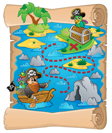 Treasure map topic image