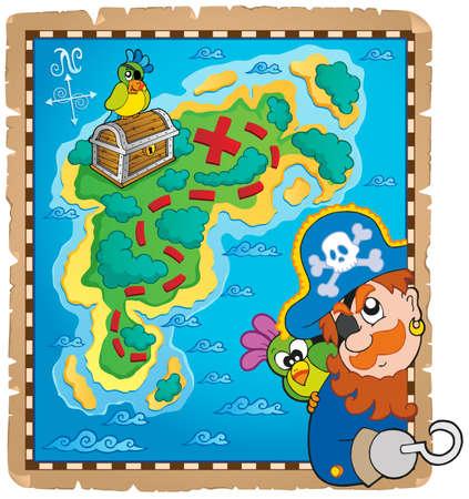 Carte au trésor image sujet Banque d'images - 25651961