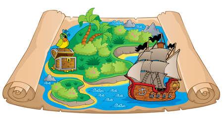 conceptual maps: Mapa del tesoro imagen tema