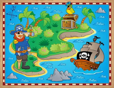 isla del tesoro: Mapa del tesoro imagen tema