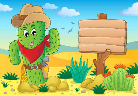 neckscarf: Cactus theme image 5 - eps10 vector illustration