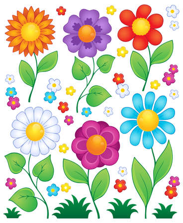 Cartoon flowers collection 3 - eps10 vector illustration  Vector