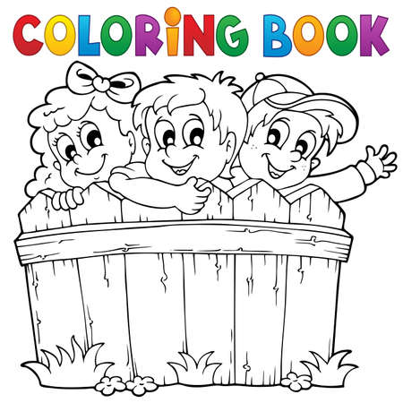 Coloring book children theme 1 - eps10 vector illustration  Vector