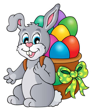 Easter bunny theme image 6 - eps10 vector illustration