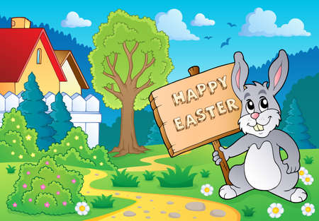 topic: Easter bunny topic image 5 - eps10 vector illustration  Illustration
