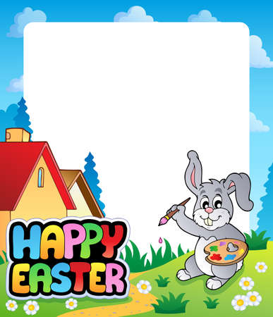 topic: Frame with Easter bunny topic 5 - eps10 vector illustration
