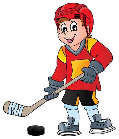 Hockey theme image 1 - eps10 vector illustration Stock Vector - 26279479