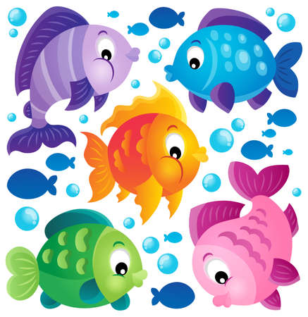 Fish theme collection  Illustration