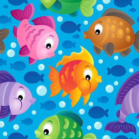 fish scales: Fish theme seamless background  Illustration