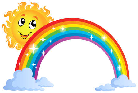 Image with rainbow theme Stock Vector - 27314090
