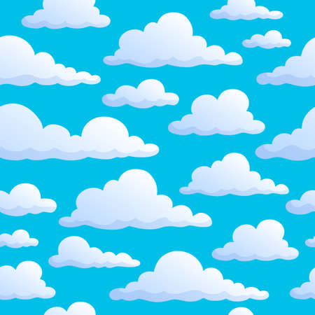 clouds in sky: Seamless background clouds on sky