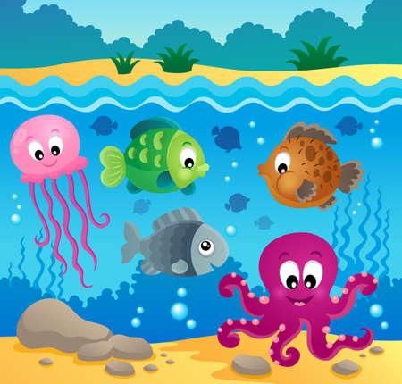 fin: Underwater ocean fauna theme
