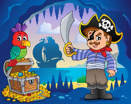 Pirate cove topic image 2 - eps10 vector illustration  Vector