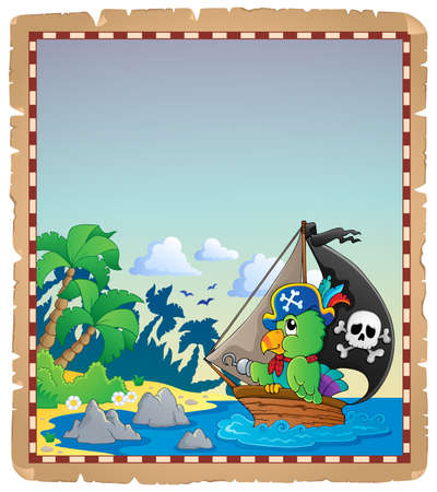 scarf beach: Pirate theme parchment 2 - eps10 vector illustration