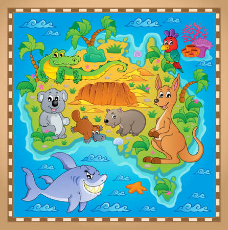 Australian map theme image  Vector