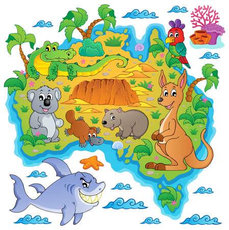 Australian map theme  Vector