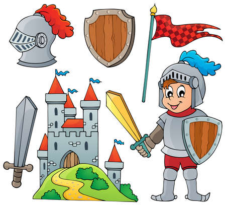 Knight theme collection  Vector
