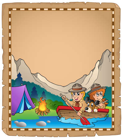 esploratori: Pergamena con due esploratori in barca