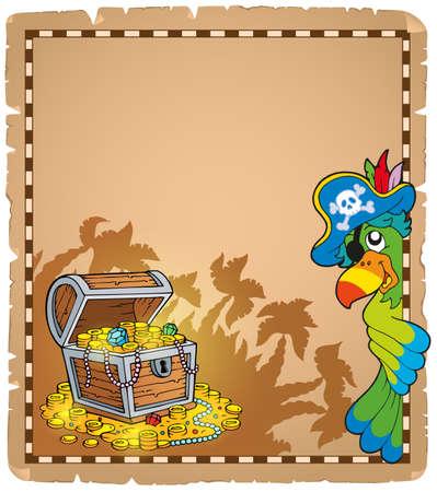 Pirate theme parchment