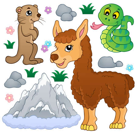 Mountain animals theme collection illustration  Vector