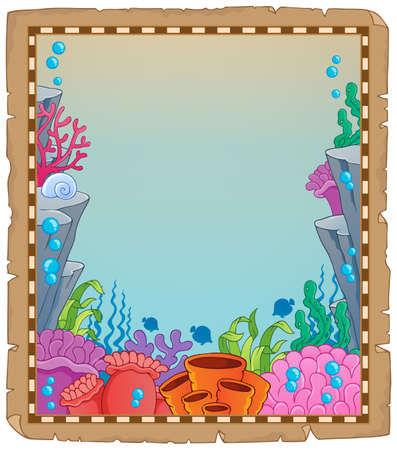 Parchment with underwater theme
