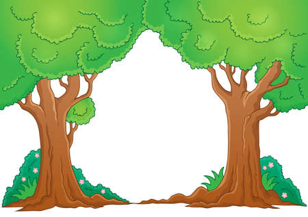 arboles frondosos: Árbol de ilustración