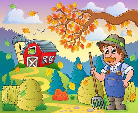 Autumn farm theme