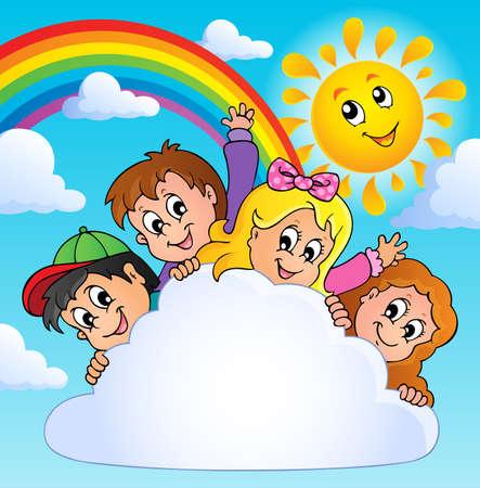 Children theme image  Illustration