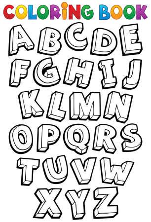 Coloring book alphabet theme