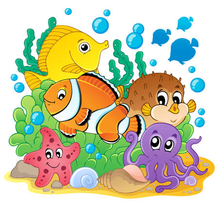 clownfish: Coral fish theme image