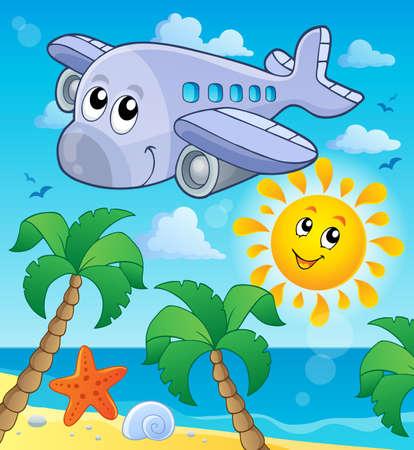 midair: Image with airplane theme  Illustration