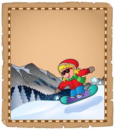 Mountainside: Pergamin z tematem sportu zimowego