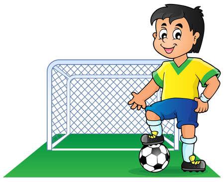 football net: Soccer theme image  Illustration
