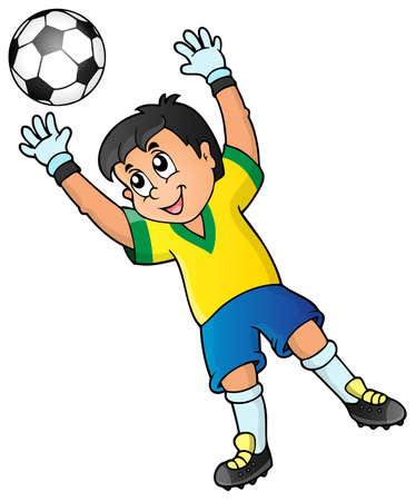 Soccer theme image  Vector