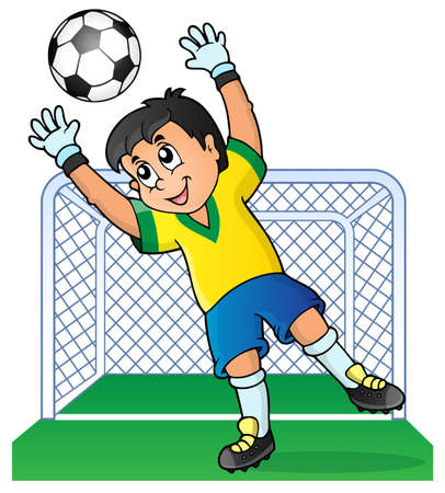 soccer shoes: Soccer theme image  Illustration