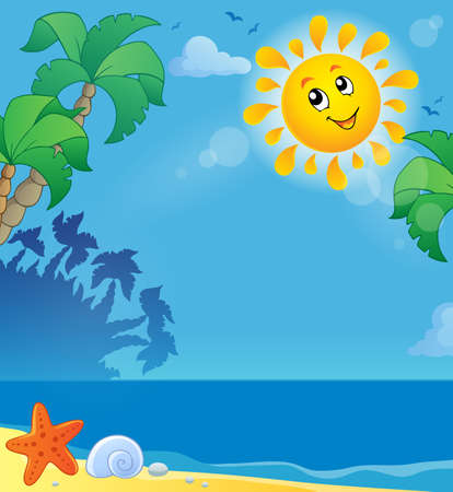 animal themes: Summer holidays theme image 2 - eps10 vector illustration  Illustration